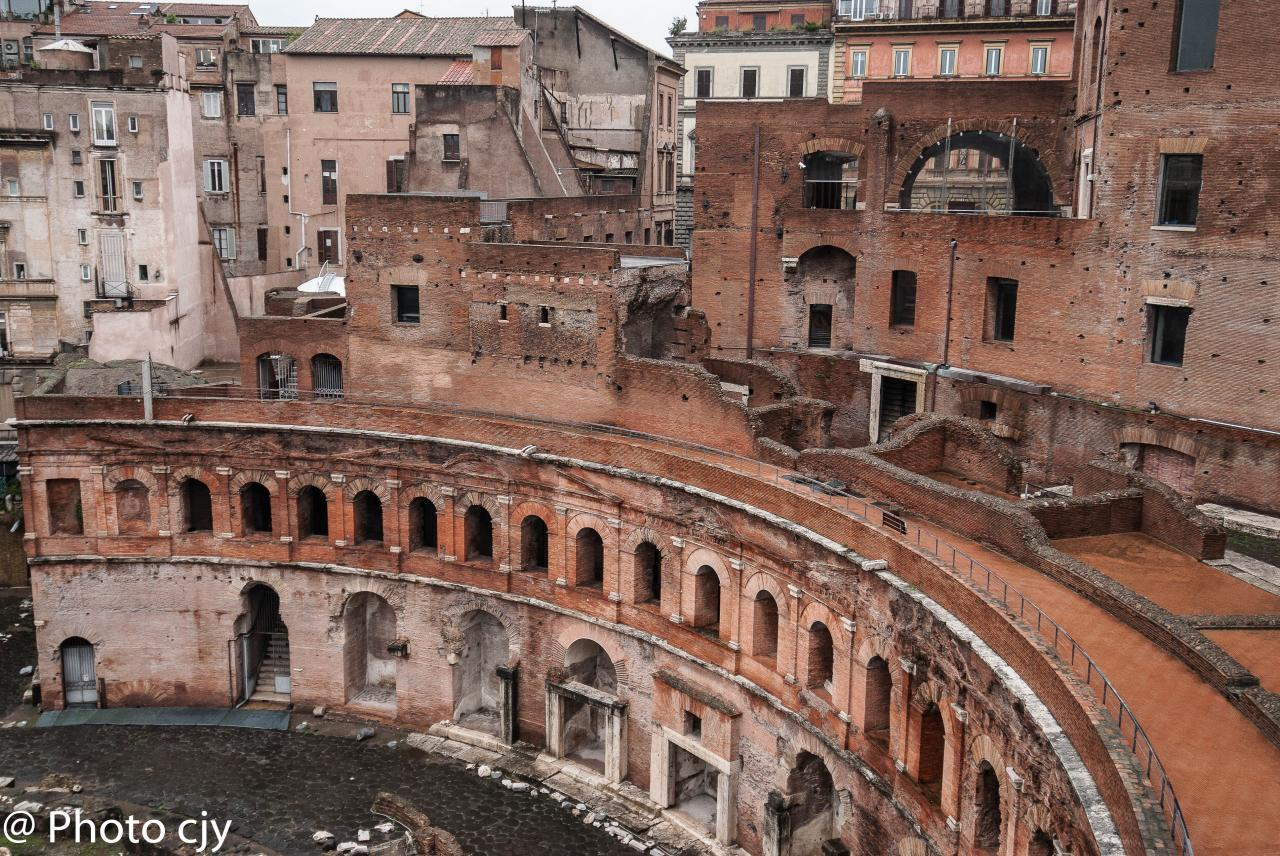 Le marches de de Trajan
